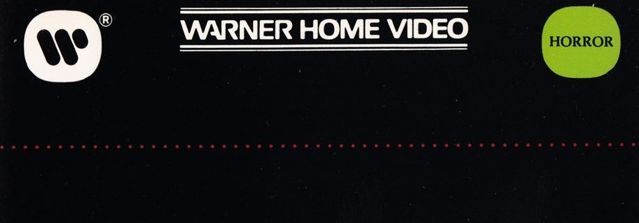 Warner Video Clamshell Horror VHS Tapes