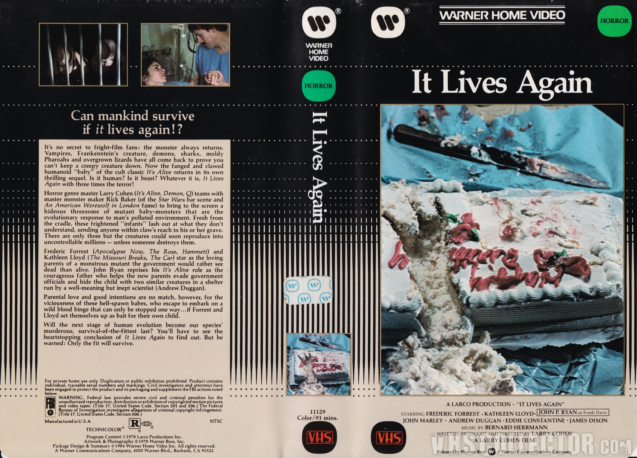 it lives again warner home video clamshell vhs vhscollector