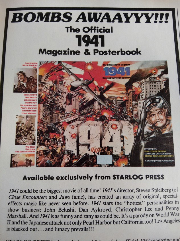 starlog-magazine-1941-posterbook-steve-spielberg-film