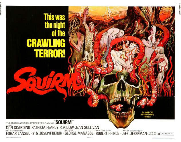 squirm poster 1970s nature horror film rainy day