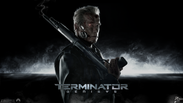 terminator genisys arnold poster 2015