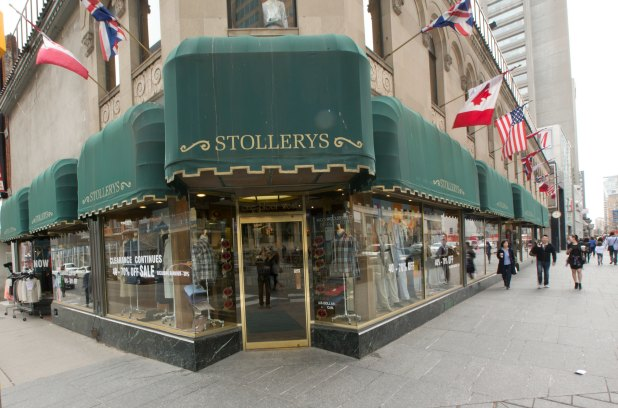 21 April 2014. Stollery's menswear store at Bloor and Yonge Streets has seen better days.