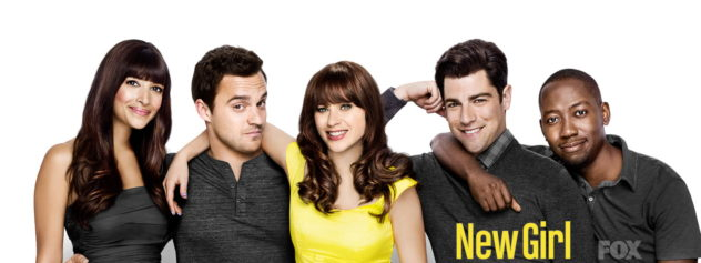 NEW GIRL: Hannah Simone, Jake Johnson, Max Greenfield, Damon Wayans Jr