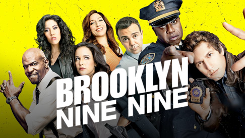 BROOKLYN NINE NINE: Andy Samberg, Stephanie Beatriz, Terry Crews, Melissa Fumero, Joe Lo Truglio, Chelsea Peretti, Dirk Blocker, Joel McKinnon Miller, Andre Braugher