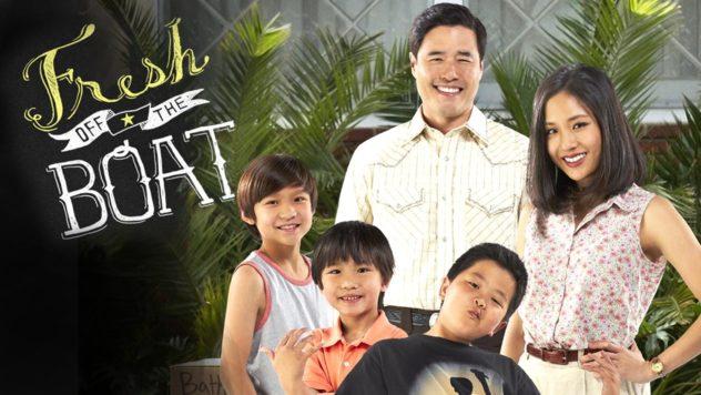 FRESH OFF THE BOAT:  Randall Park, Constance Wu, Hudson Yang Forrest, Wheeler Ian Chen, Lucille Soong, Chelsey Crisp